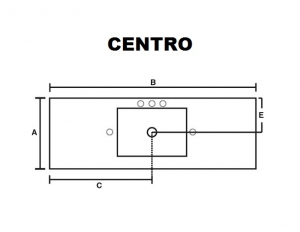 Medidas lavabo centro