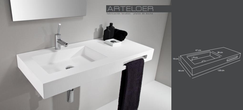 Dibujo técnico lavabo modelo Thor