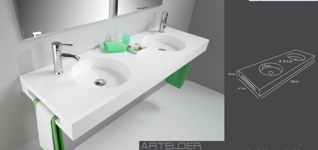 Medidas lavabo modelo Thor doble seno Huracan