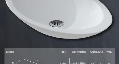Dibujo técnico lavabo Bitol Arteloer