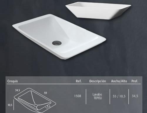 Medidas lavabo modelo Tepeu